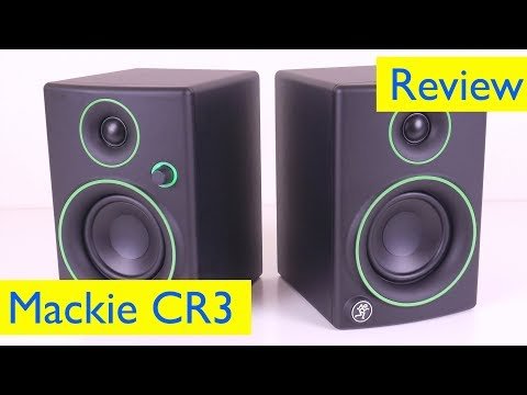 Mackie CR3 Studio Reference Monitors Setup, Review and Sound Test