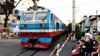 Train SPT1 Phan Thiet - Saigon arriving Ho Chi Minh City (2018)
