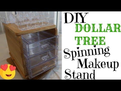 DOLLAR TREE DIY * SPINNING MAKEUP ORGANIZER