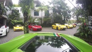 Gathering Ferrari , Lamborghini , Supercar Owner Indonesia & Auto Dream Car Malang