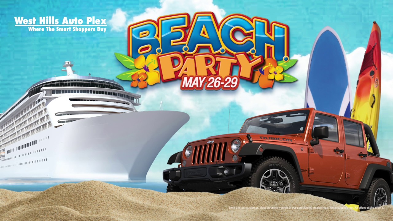 Elegant Beach Party Is Back At West Hills Chrysler Jeep Dodge Ram!
