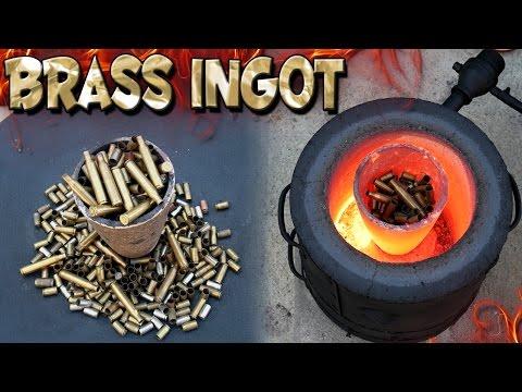 Making 5 Pound Brass Ingot From Bullet Shells