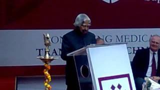 Dr . A.P.J. Abdul Kalam : Former President of India @ BLK SUPER SPECIALITY HOSPITAL, NEW DELHI