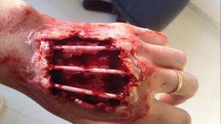 اخترق اليد مع تعرض العظام - SFX ماكياج البرنامج التعليمي