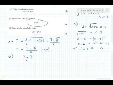 C3 Edexcel 2017 questions 1, 2, 3, 4