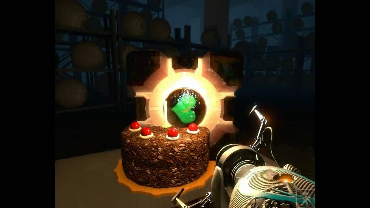 Birthday Cake Wallpaper 3d Portal Getting To The Cake Room And Back Without Cheats