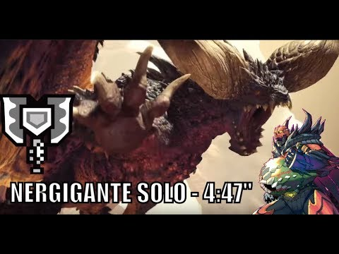Monster Hunter World - Nergigante Solo - Charge Blade - 4:47""