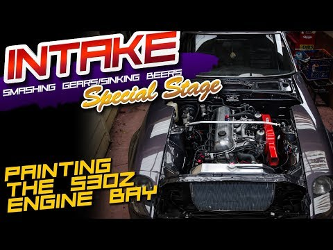 Intake! Special Stage! - Painting the 260z Engine Bay