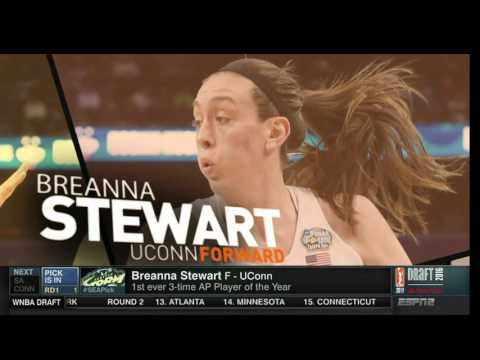 Seattle Storm Choose Breanna Stewart as the Number One Pick!