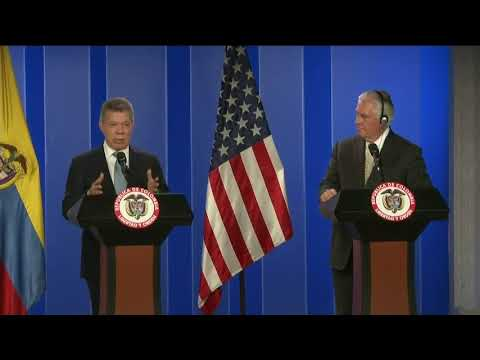 Press Availability with Colombian President Santos in Bogotá, Colombia