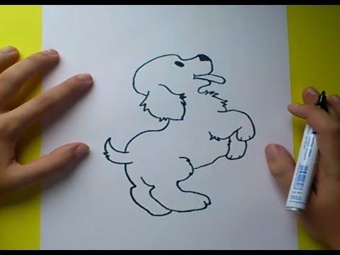 Como dibujar un perro paso a paso 4  How to draw a dog 4  YouTube