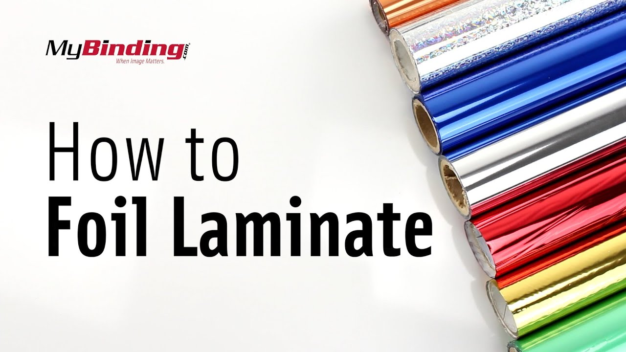 Foil Stamping Book Cover Diy ~ How to foil laminate using a pouch laminator youtube