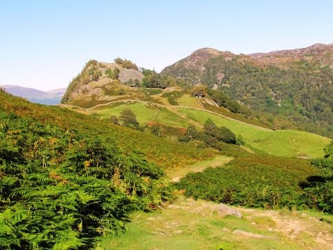 Lake District Country Walk   Borrowdale Valley   Grange to Seatoller by the River Derwent round