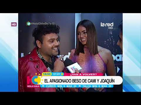 El apasionado beso de Cami Recabarren y Joaquín Méndez  que sorprendió en los Billboard