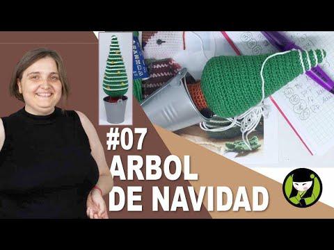 ABETO DE NAVIDAD AMIGURUMI 07 ARBOL DE NAVIDAD TEJIDO A CROCHET
