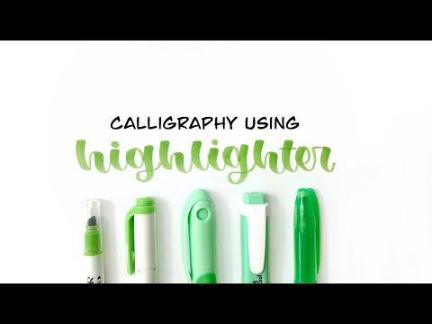 Mẹo viết calligraphy bằng highlighter đơn giản// Calligraphy using highlighters// orangiee
