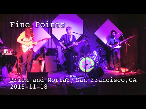 Fine Points performing at Brick and Mortar Music Hall, San Francisco, CA 2015-11-18