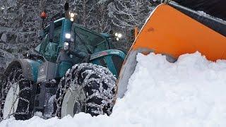 Schneeräumen extrem mit Fendt 724 Vario | snow plowing extreme | Lohnunternehmen Schreibmaier