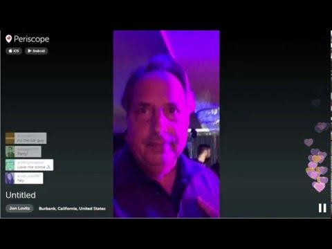 Jon Lovitz Periscope at Adam Sandler Christmas Party 2015-1203