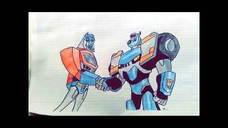 Transformers animated my drawing