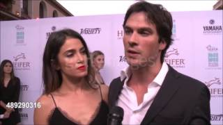 Ian Somerhalder & Nikki Reed at Heifer International Annual Beyond Hunger Gala