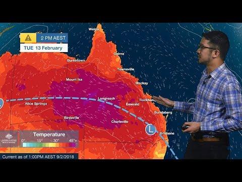 ⚠Weather Update: Heatwave In Queensland, 9 February 2018