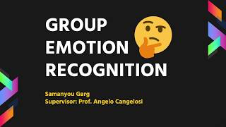 Group Emotion Recognition with Deep Learning | Machine Learning | Convolutional Neural Networks