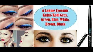 Best Lakme Eyeconic kajal in india with Price   Lakme Eyeconic Kajal Shades Under Rs. 300