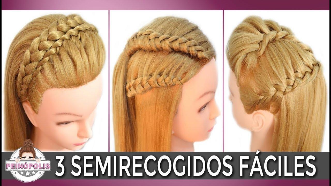 3 Semirecogidos Casuales Para La Escuela Peinados Faciles Para