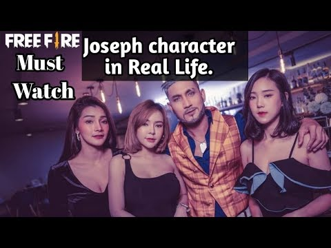 Joseph character in real life ||Must watch free fire player||