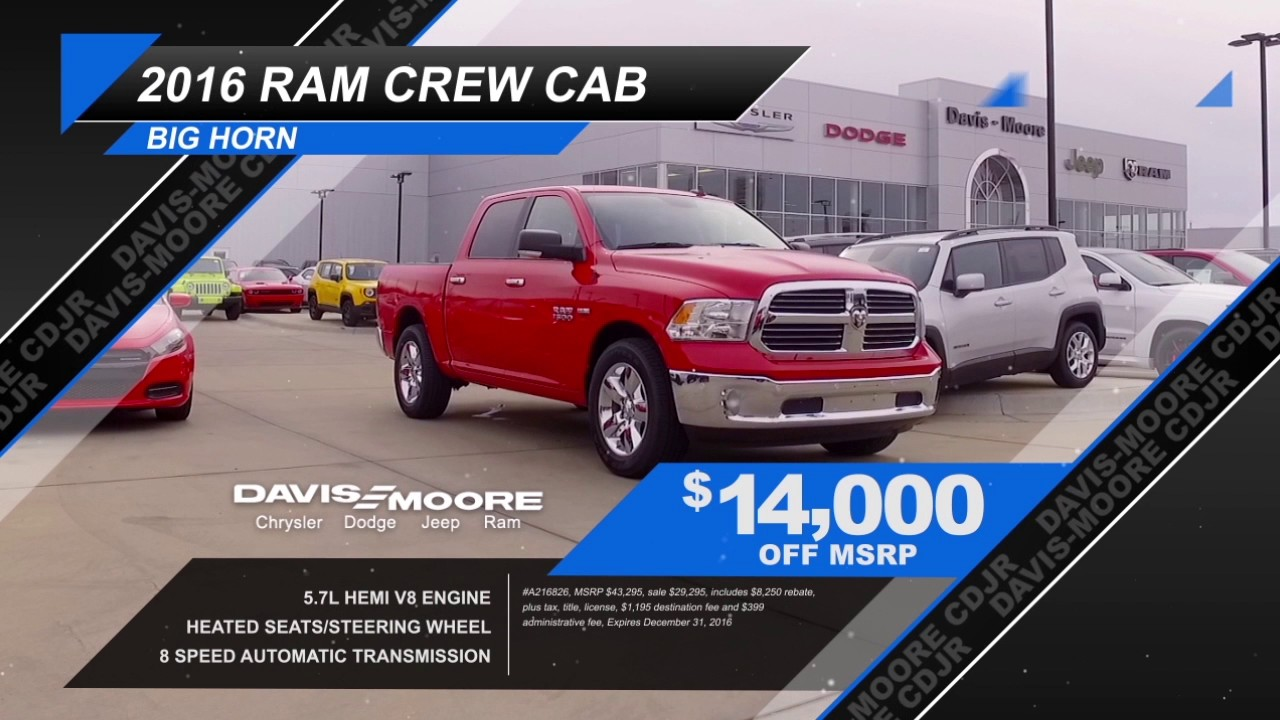 Davis Moore Dodge >> Ram And Jeep Renegade Big Finish Event At Davis Moore Chrysler Dodge