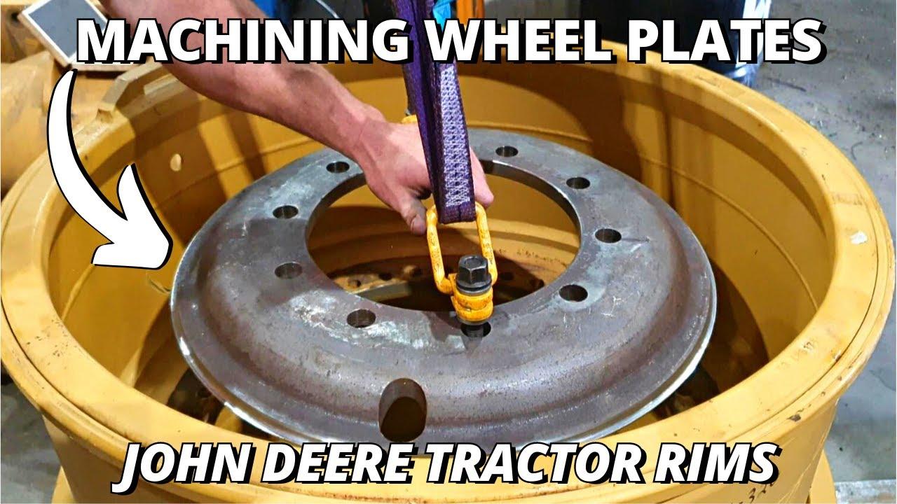 Download Machining BIG Tractor Wheel Plates   John Deere 9570R