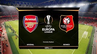 Arsenal vs Rennes - Europa League 14 March 2019 Gameplay