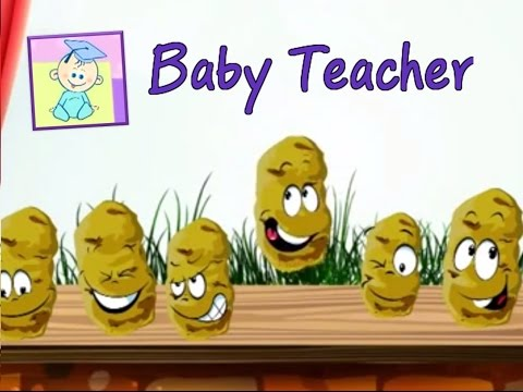 One Potato, Two Potatoes | Nursery Rhymes with Lyrics + Karaoke | From Baby Teacher