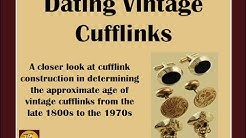 How To Date Vintage Cufflinks