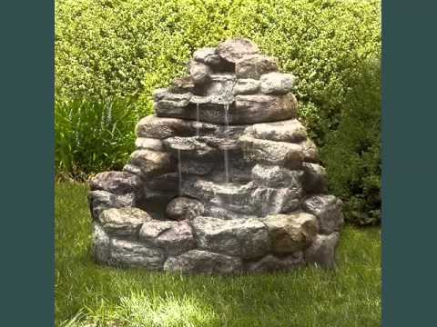 Backyard Water Fountain Collection Fountains Outdoor Decor Youtube