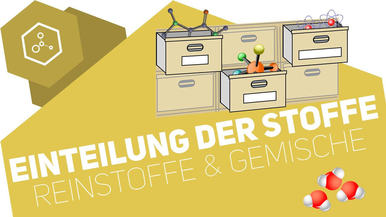 Einteilung der Stoffe - Reinstoffe und Gemische ○ Gehe auf ...