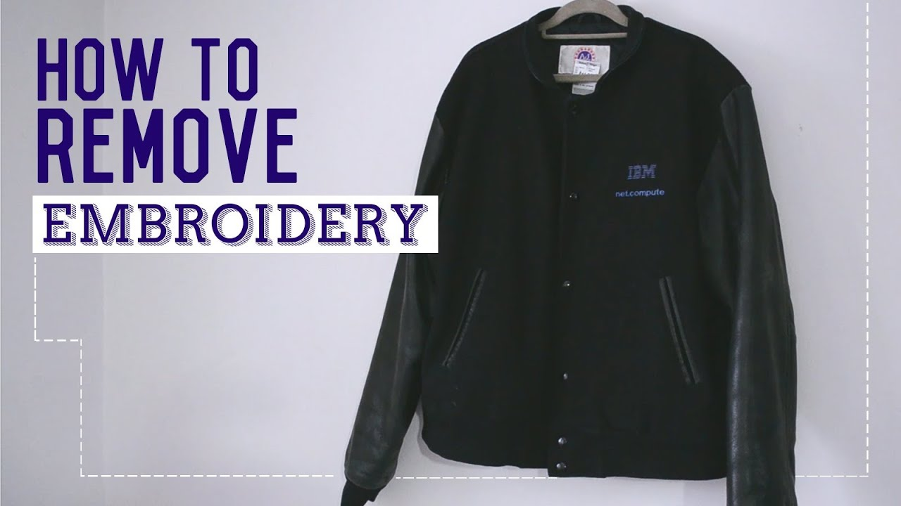 Quick Fix How To Remove Embroidery Youtube