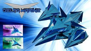 Origami Plane Papertoy - DELTA MARINE (part 2) - deyeight collection 2018