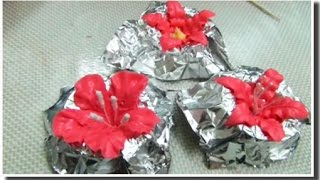 Урок №6. Учимся делать цветы из глассажа.