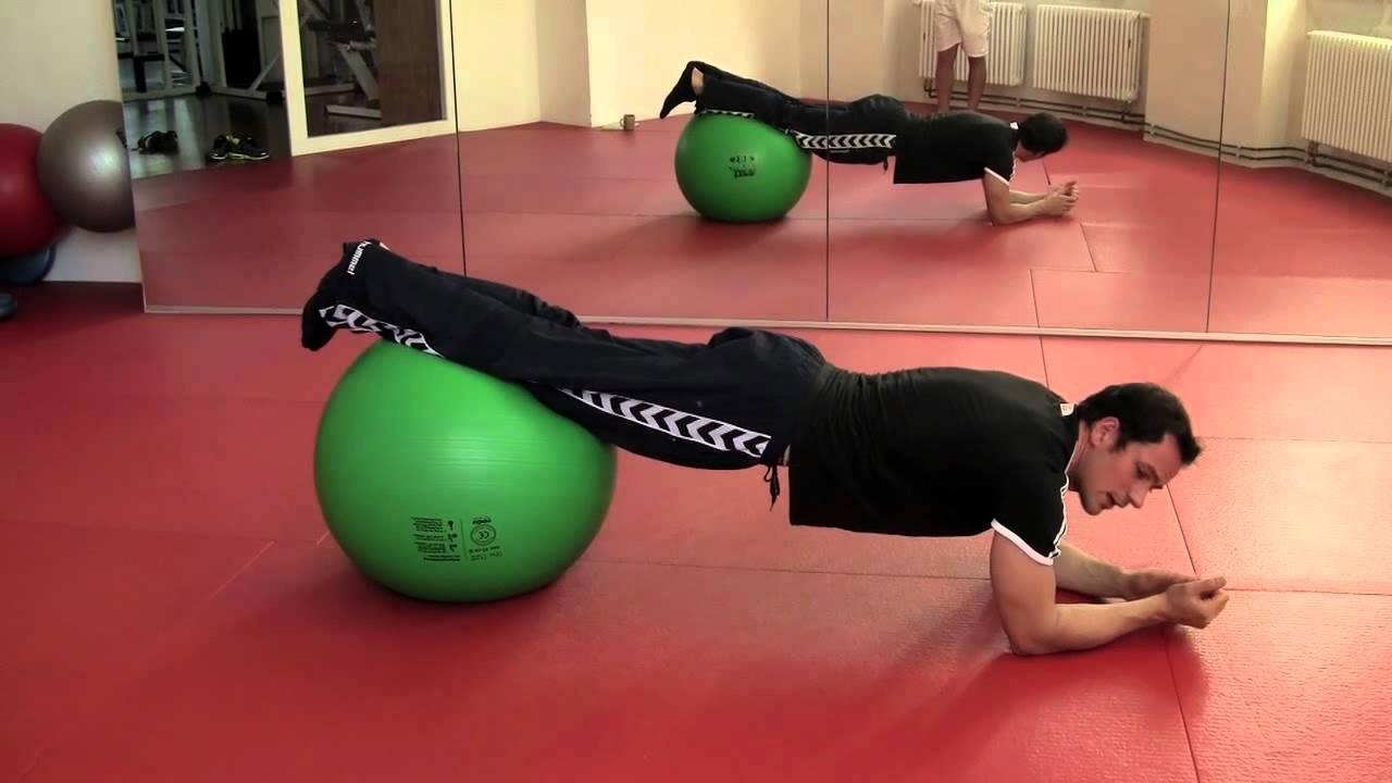 gymnastikball fitness bungen f r kraft ausdauer zum fettabbau youtube