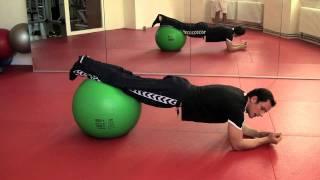Gymnastikball Fitness Übungen für Kraft & Ausdauer zum Fettabbau