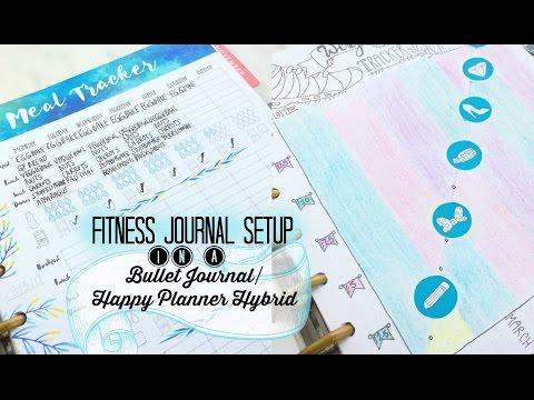 Free Printable! +  Fitness Journal Setup in a Bullet Journal / Happy Planner Hybrid