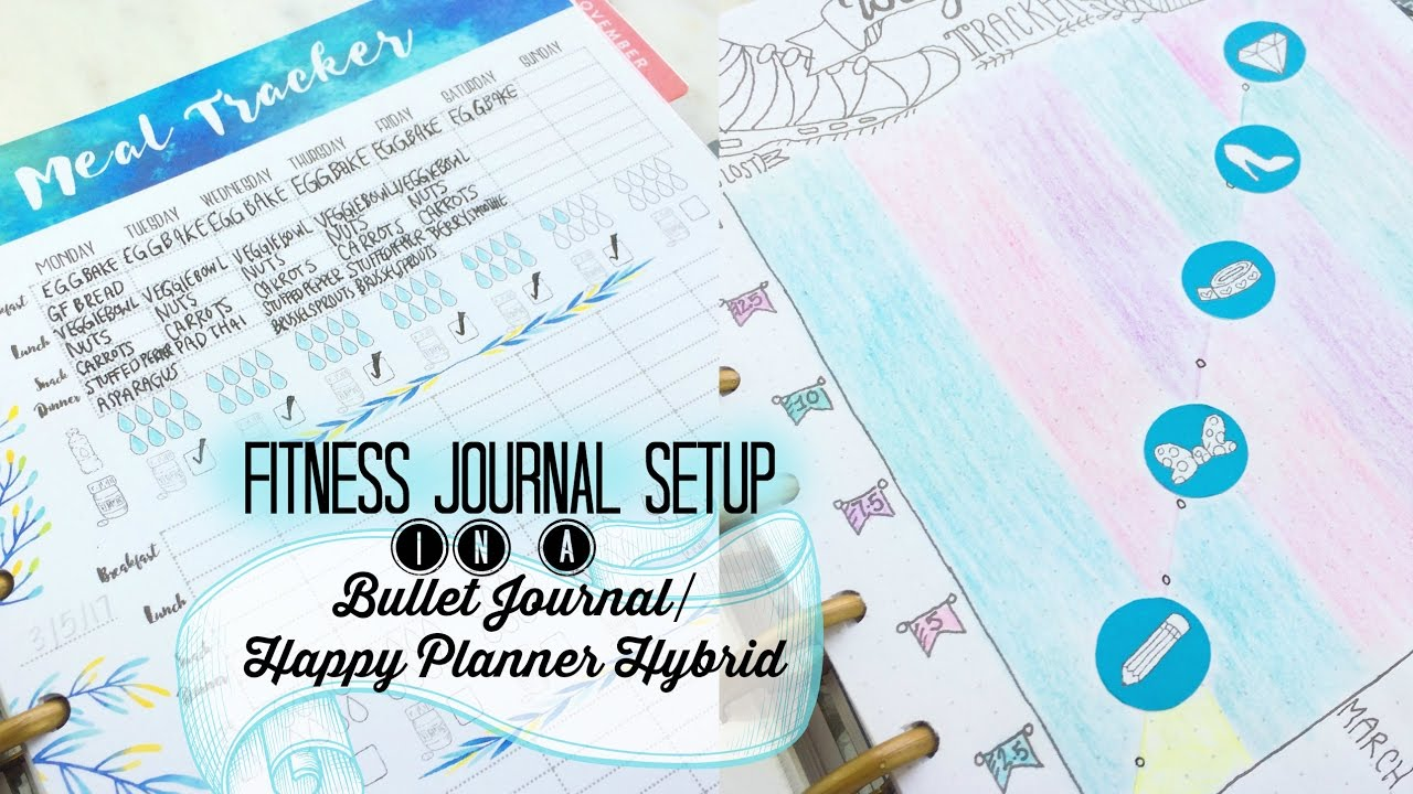 photo regarding Printable Fitness Journals called Cost-free Printable! + Physical fitness Magazine Set up inside of a Bullet Magazine / Delighted Planner Hybrid