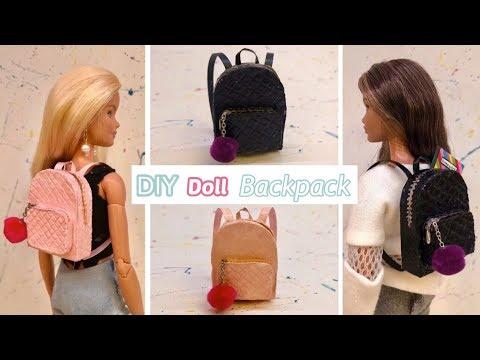 DIY Miniature Barbie BACKPACK!!🎒😍
