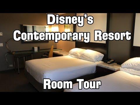 Disney World - Disney's Contemporary Resort Hotel Room Tour (Theme Park View)