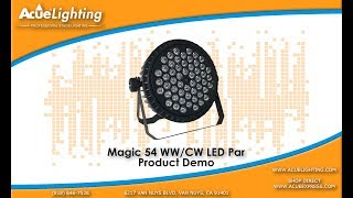 Acue Lighting Magic 54 WW LED Slim Par Product Demo Video