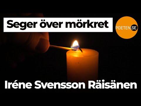 SEGER ÖVER MÖRKRET diktvideo av poeten Iréne Svensson Räisänen