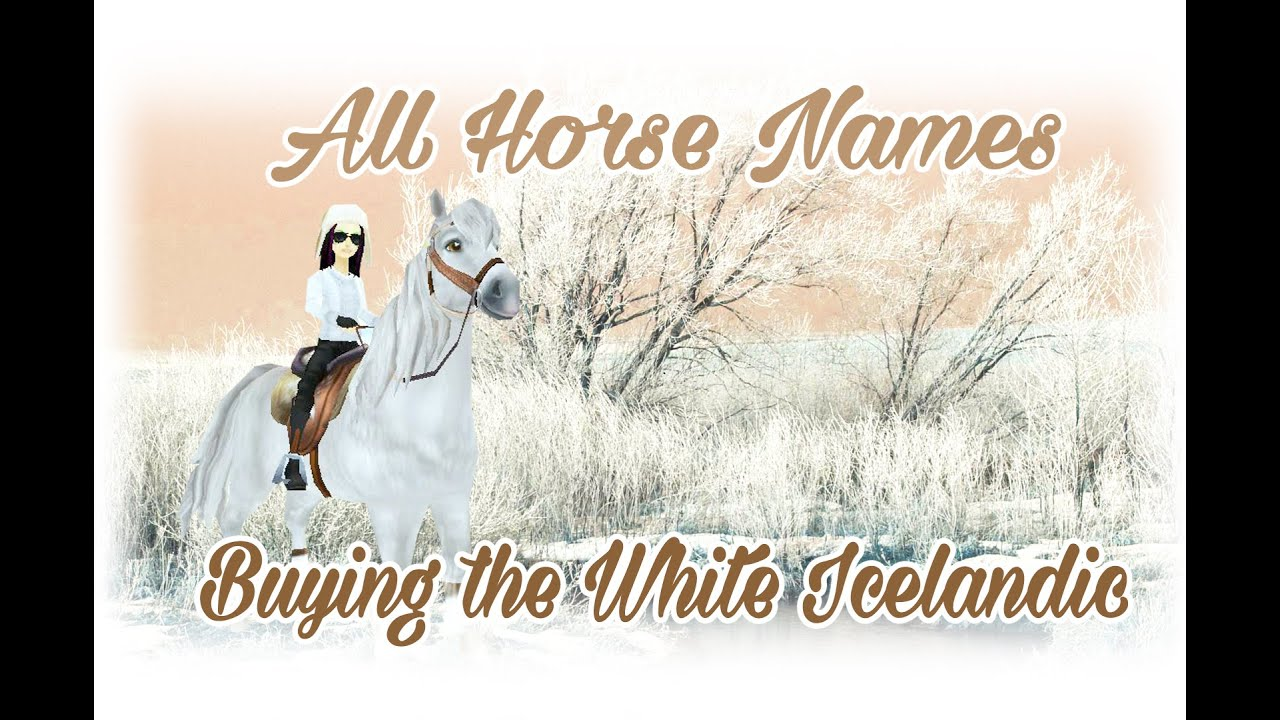 ALL HORSE NAMES buying the white icelandic Star Stable - YouTube
