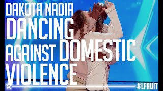 Dakota & Nadia performed an AMAZING dance against domestic violence | France's Got Talent 2018
